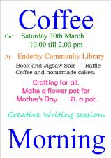 March Coffee Morning - Saturday, 30th March 2019, 10am-2pm