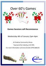 Games Group Sessions Commence New Year
